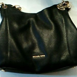 Large, black leather, real, Micheal Kors purse.
